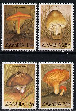 Zambia 1984 Fungi complete set of 4 unmounted mint, SG 420-23*