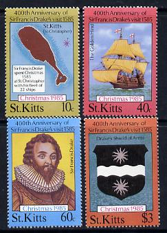 St Kitts 1985 Christmas (Sir Francis Drake) set of 4 unmounted mint, SG 181-84