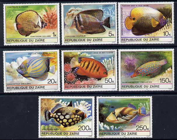 Zaire 1980 Tropical Fish set of 8 unmounted mint, SG 1017-24*