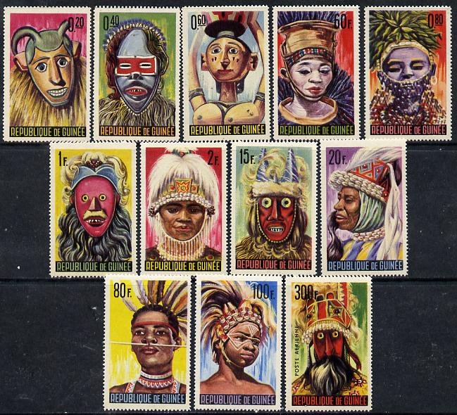 Guinea - Conakry 1965 Native Masks & Dancers unmounted mint set of 12, SG 472-83*