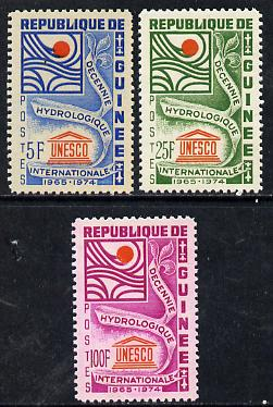 Guinea - Conakry 1966 UNESCO Hydrological Decade set of 3, SG 558-60*