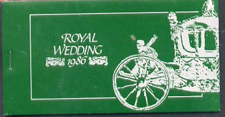 Booklet - St Vincent - Grenadines 1986 Royal Wedding $10.40 booklet (SG SB7) State Coach in silver, panes imperf