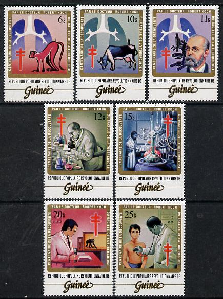 Guinea - Conakry 1983 Centenary of Discovery of Tubercle Bacillus set of 7, SG 1089-95