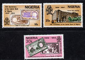 Nigeria 1984 25th Anniversary of Central Bank set of 3, SG 473-5 unmounted mint*
