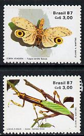 Brazil 1987 Entomology Society set of 2 unmounted mint, SG 2279-80*
