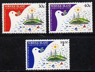 Norfolk Island 1986 Christmas set of 3 unmounted mint (SG 393-5)