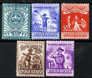 Indonesia 1955 National Scout Jamboree set of 5 unmounted mint, SG 686-90*