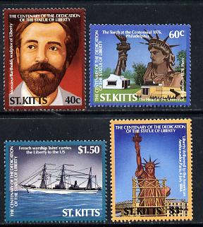 St Kitts 1986 Statue of Liberty Centenary set of 4 (SG 215-18) unmounted mint