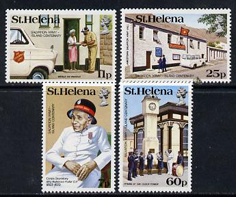 St Helena 1984 Salvation Army set of 4 unmounted mint SG 446-49