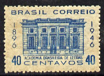 Brazil 1946 Academy of Arts unmounted mint, SG 737*