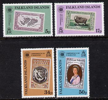 Falkland Islands 1983 Commonwealth Day (Stamp on Stamp) set of 4 unmounted mint, SG 450-53