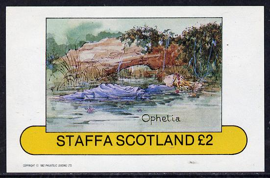 Staffa 1982 Scenes from Shakespeare's Plays (Ophelia) imperf deluxe sheet (�2 value) unmounted mint