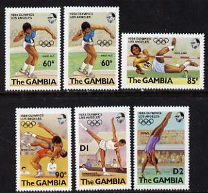 Gambia 1984 Olympic Games set of 6 unmounted mint, SG 527-32