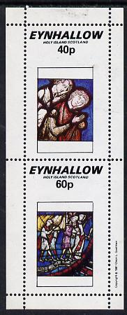 Eynhallow 1981 Stained Glass Windows perf set of 2 values (40p & 60p) unmounted mint
