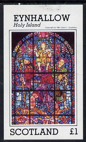 Eynhallow 1981 Stained Glass Windows imperf souvenir sheet (�1 value) unmounted mint