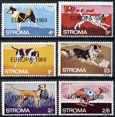 Stroma 1969 Dogs perf set of 6 each opt'd 'Europa 1969' unmounted mint