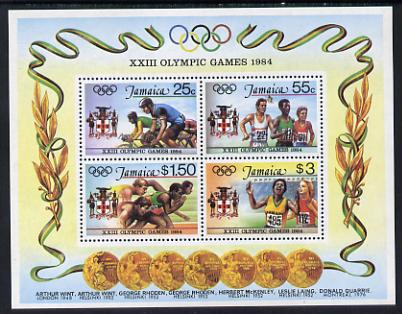 Jamaica 1984 Olympic Games m/sheet unmounted mint, SG MS 604