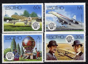 Lesotho 1983 Manned Flight set of 4 unmounted mint SG 545-48
