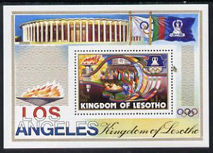 Lesotho 1984 Los Angeles Olympic Games m/sheet unmounted mint SG MS 595