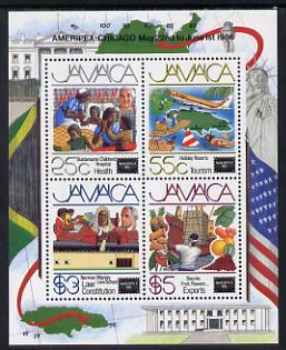Jamaica 1986 Ameripex Stamp Exhibition m/sheet unmounted mint, SG MS 655