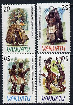 Vanuatu 1985 Costumes set of 4 unmounted mint SG 398-401*