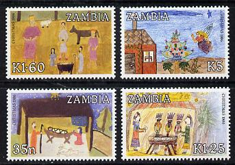 Zambia 1986 Christmas (Paintings) set of 4 unmounted mint, SG 468-71