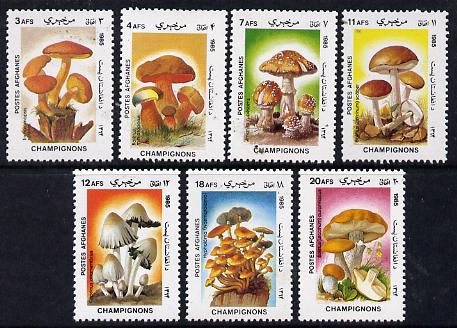 Afghanistan 1985 Fungi perf set of 7 unmounted mint SG 1028-34*