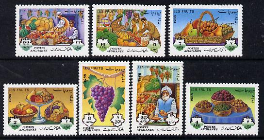 Afghanistan 1988 Fruit perf set of 7 unmounted mint, SG 1205-11*