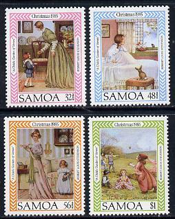 Samoa 1985 Christmas set of 4 unmounted mint, SG 711-14