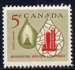Canada 1958 Centenary of Canadian Oil Industry unmounted mint SG507