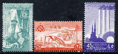 Syria 1958 Damascus Fair set of 3, SG 659-61*