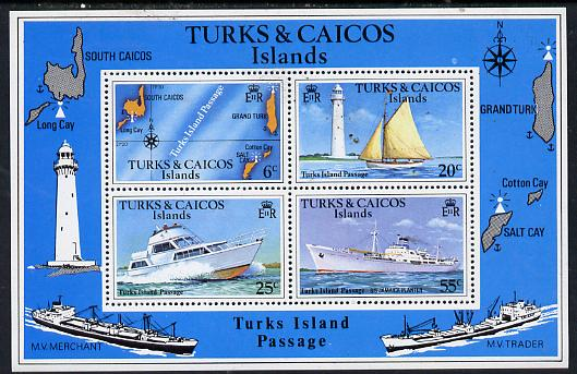 Turks & Caicos Islands 1978 Turks Island Passage m/sheet with watermark unmounted mint, SG MS 493B
