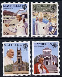 Seychelles 1986 Visit of Pope John Paul set of 4 unmounted mint, SG 654-57*