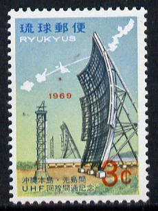 Ryukyu Islands 1969 UHF Radio Service unmounted mint, SG 218*