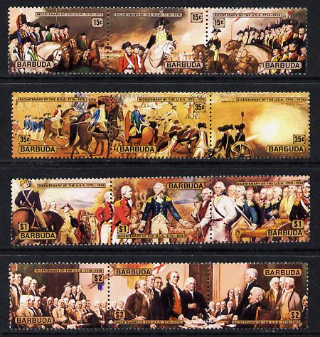 Barbuda 1976 USA Bicentenary the set of 12 unmounted mint, SG 249-60