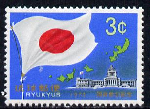 Ryukyu Islands 1970 Election to Japanese Diet unmounted mint, SG 246*