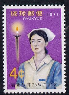 Ryukyu Islands 1971 Nurses' Training Scheme unmounted mint, SG 260*