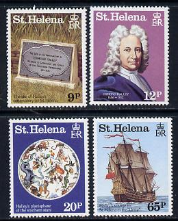 St Helena 1986 Halley's Comet set of 4 unmounted mint (SG 482-85), stamps on space, stamps on halley