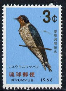 Ryukyu Islands 1966 Bird Week unmounted mint, SG 178*