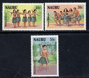 Nauru 1987 Nauruan Dancers set of 3 unmounted mint SG 346-48
