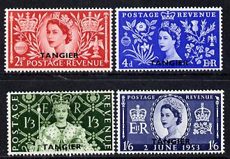 Morocco Agencies - Tangier 1953 Coronation set of 4 unmounted mint SG 306-9