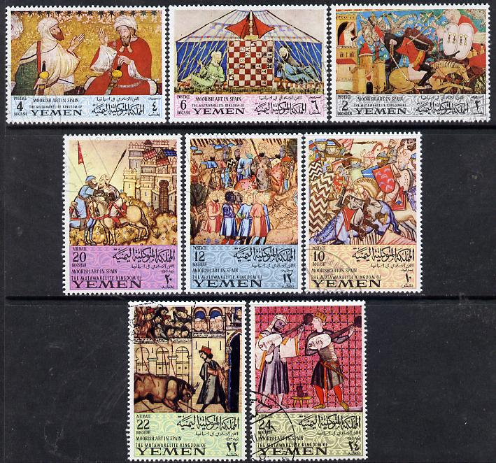 Yemen - Royalist 1967 Moorish Art in Spain set of 8 cto used, Mi 412-19*