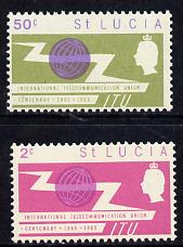 St Lucia 1965 ITU set of 2 unmounted mint SG 212-3