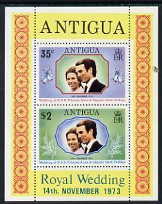 Antigua 1973 Royal Wedding m/sheet unmounted mint, SG MS 372