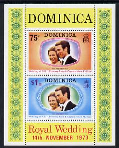 Dominica 1973 Royal Wedding m/sheet  unmounted mint, SG MS 396