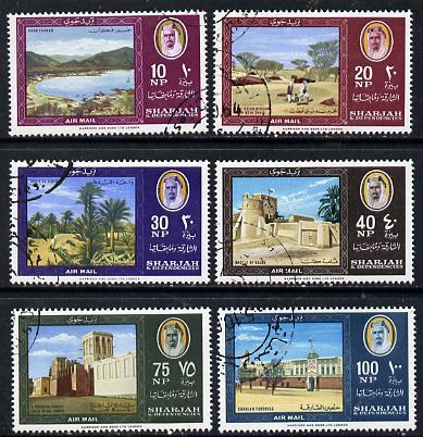 Sharjah 1964 Landscapes set of 6 cto used, SG 75-80, Mi 81-86
