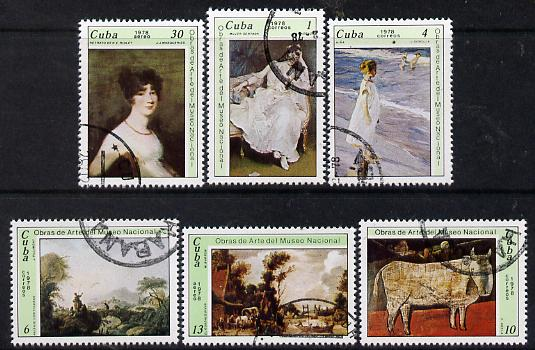 Cuba 1978 National Museum Paintings (12th series) cto set of 6, SG 2430-35*