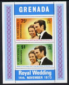Grenada - Grenadines 1973 Royal Wedding m/sheet unmounted mint, SG MS 3