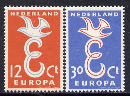 Netherlands 1958 Europa set of 2 unmounted mint, SG 868-69*