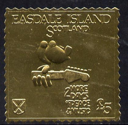Easdale 1994 Woodstock 25th Anniversary \A35 design in gold foil (perf) unmounted mint